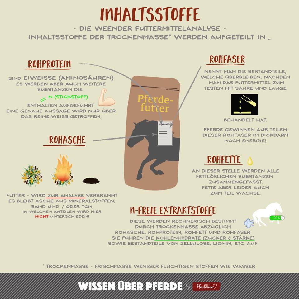 Inhaltsstoffe Futtermittel Pferd